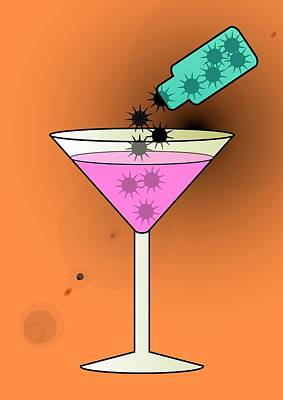 Spiked Drink, Conceptual Image Art Print by Stephen Wood