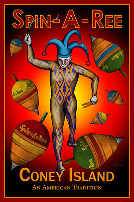 Jester Digital Art - Spin-a-ree by John OBrien
