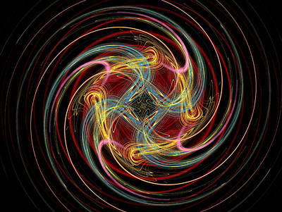 Pinwheel Digital Art - Spin Fractal by Betsy Knapp