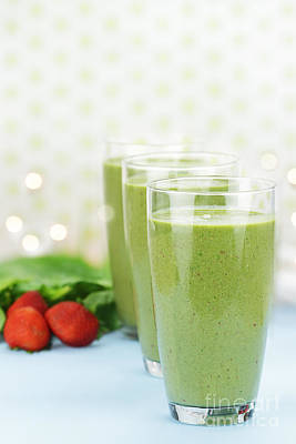 Strawberry Smoothie Photograph - Spinach Smoothie by Stephanie Frey