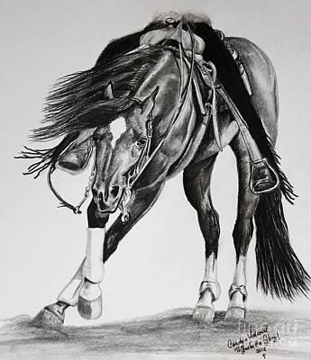 Spinner Art Print by Carolyn Valcourt