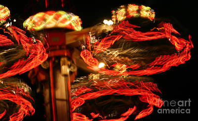 Photograph - Spinning Amusement At Night by Susan Stevenson