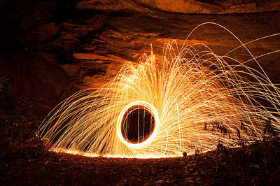 Photograph - Spinning Fire 2 by Joye Ardyn Durham