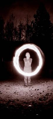 Photograph - Spinning Fire Poi by Katherine Huck Fernie Howard