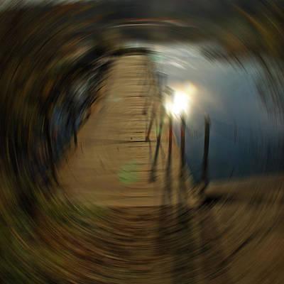 Vine Digital Art - Spinning Vortex by LeeAnn McLaneGoetz McLaneGoetzStudioLLCcom