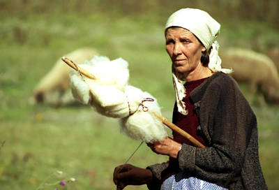 Photograph - Spinning Wool by Emanuel Tanjala