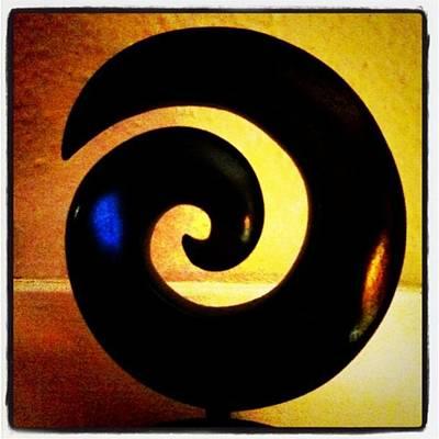 Light Photograph - Spiral by Ken Powers