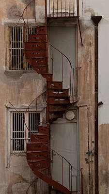 Photograph - Spiral Staircase - Athens by Susan OBrien