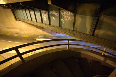 Photograph - Spiral Staircase At The 110 by Kevin  Break
