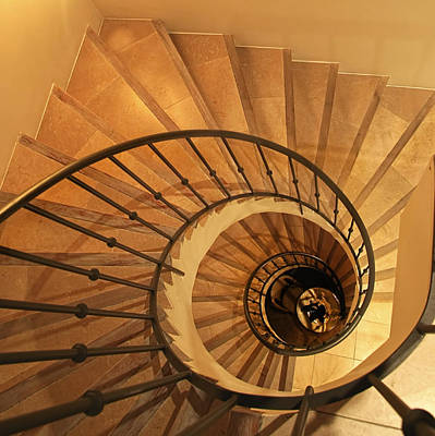 Spiral Staircase Print by Charles Briscoe-Knight
