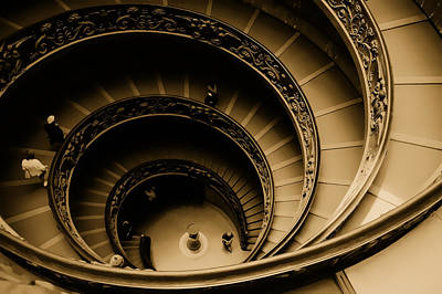Spiral Stairs Art Print