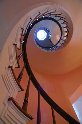 Spiral Stairway Art Print by Steven Ainsworth