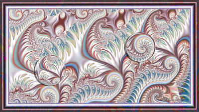 Fractal Orbs Digital Art - Spirals And Orbs by Peggi Wolfe