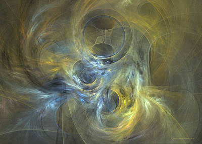 Digital Art - Spirals Wrapped In Mystery by Sipo Liimatainen