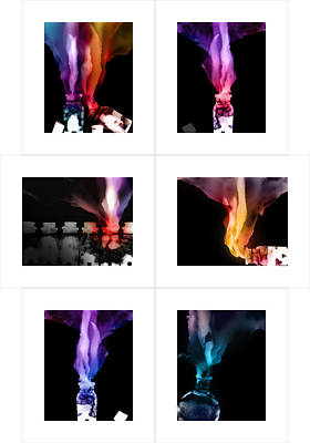 Photograph - Spirit Bottles Set Of Six 8x10 If Ordered At 28x40 by Katherine Huck Fernie Howard