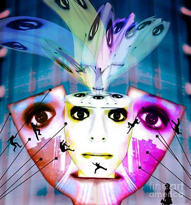 Self-portrait Mixed Media - Spirit Fountain by Jenn Bodro