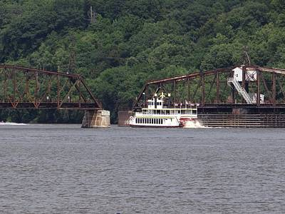 Photograph - Spirit Of Dubuque On The Mississippi River by Keith Stokes