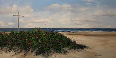 Crusifix Painting - Spirit Of Ocean Grove by Ken Ahlering