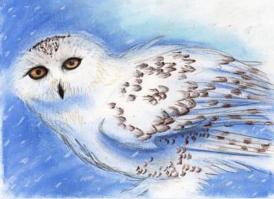 Spirit Owl Print by Janelle Schneider