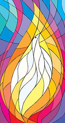 Baptism Digital Art - Spirit Rests As A Dove by Merrill Miller