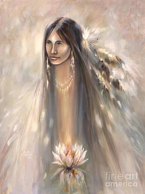 Spirit Woman Art Print by Charles B Mitchell