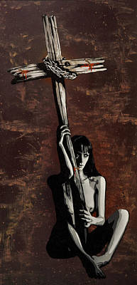 Crucifix Mixed Media - Spirituality Comes From Within Not From Without by Tai Taeoalii