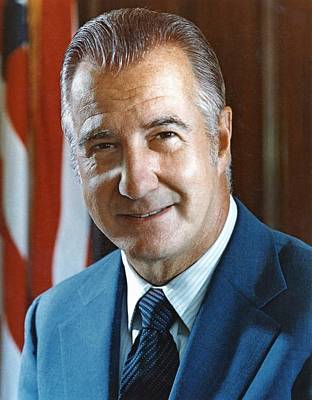 Agnew Photograph - Spiro Agnew 39th Vice President by Everett