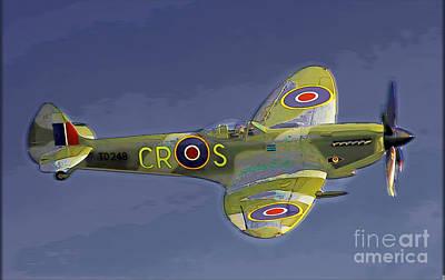 Digital Art - Spitfire by Herb Paynter