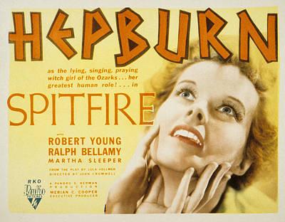 Spitfire Photograph - Spitfire, Katharine Hepburn, 1934 by Everett