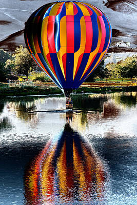 Splash And Dash With A Hot Air Balloon Art Print by David Patterson