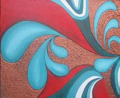 Splash Of Nature Art Print by Rejeena Niaz