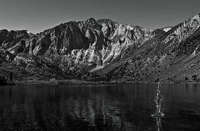 Convict Lake Photograph - Splash On Convict Lake by Sean Duan
