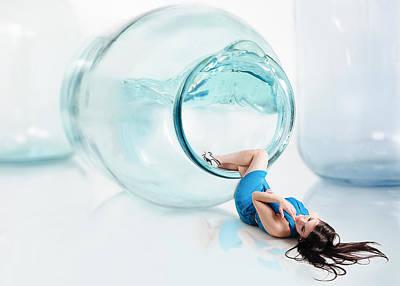 Water Jars Photograph - Splash Out by Roman Rodionov