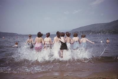 Archetype Photograph - Splashing Into Lake George by B. Anthony Stewart