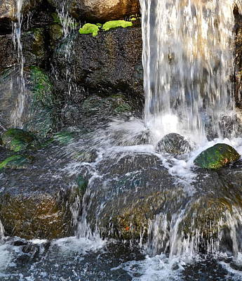 Art Print featuring the photograph Splashing Water Falls by Kirsten Giving