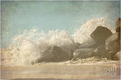 Manipulation Photograph - Splashing Wave by Sophie Vigneault