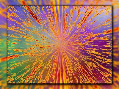 Splattered Art Print by Tim Allen