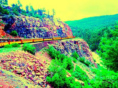 Art Print featuring the photograph Splendid View From The Last Train Car by Ann Johndro-Collins