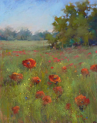 Pastel - Splendor In The Meadow by Karen Margulis