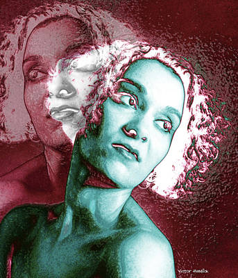Split Personality Art Print by Victor Habbick Visions