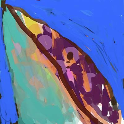 Splotchy Dolphin Greets The Day Art Print