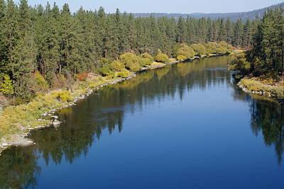 Photograph - Spokane River At Nine Mile Falls by Ben Upham III