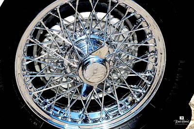 Wire Wheels Photograph - Spoke Wire Wheel by Russ Harris