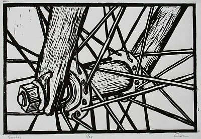 Drawing - Spokes by William Cauthern