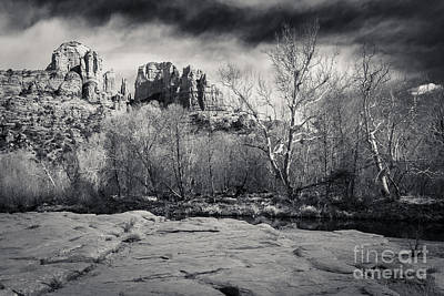 Cathedral Rock Photograph - Spooky Castle Rock by Darcy Michaelchuk