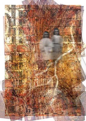 Spooks Digital Art - Spooky Sisters by Mindy Newman
