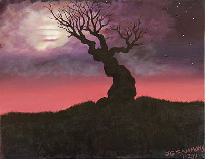 Spooky Tree Art Print by Janet Greer Sammons