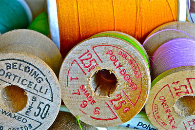 Photograph - Spools by Bill Owen