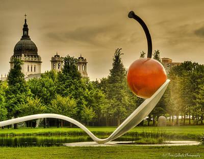 Photograph - Spoon Bridge Fountain by Fran Gallogly