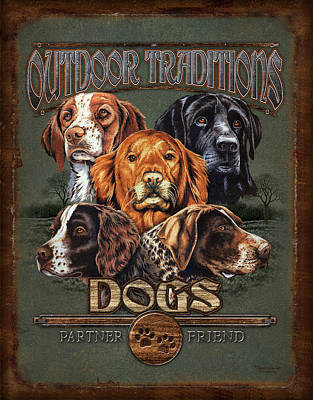 Breed Wall Art - Painting - Sporting Dog Traditions by JQ Licensing